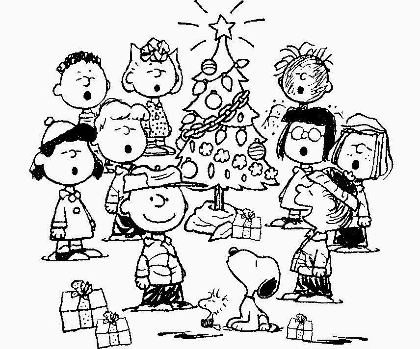 charlie brown printable coloring pages | Coloring Pages: Charlie Brown Christmas Coloring Pages and ...