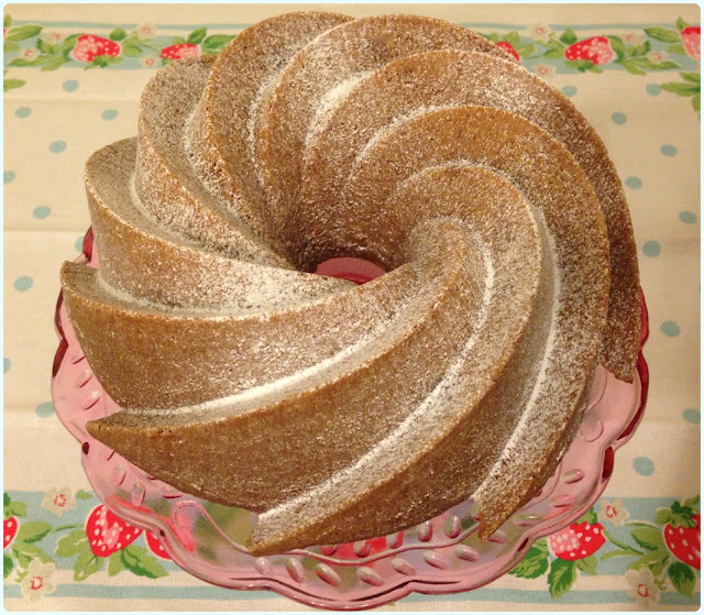 Rhubarb Ripple Bundt Cake