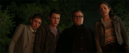 Dylan Minnette, Jack Black, Odeya Rush in Goosebumps
