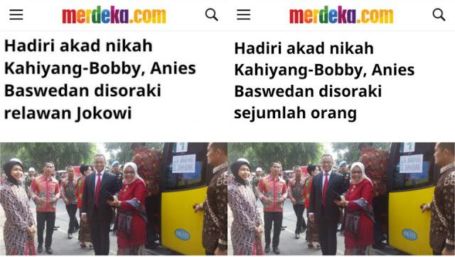 Mempermalukan Jokowi, Berita Anies Disoraki Relawan Jokowi Akhirnya Diedit