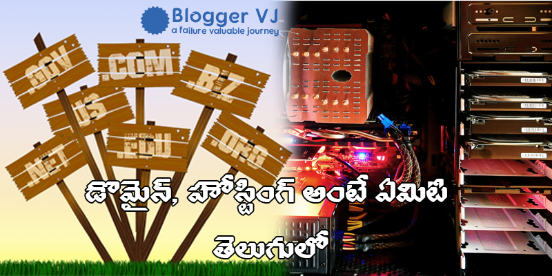 What is Domain and Web Hosting in Telugu