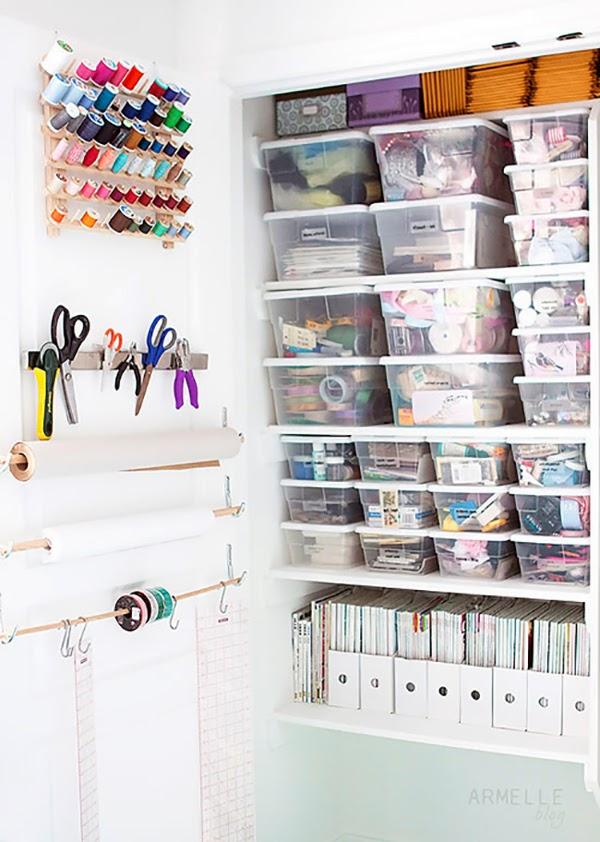 Craft Storage Closet