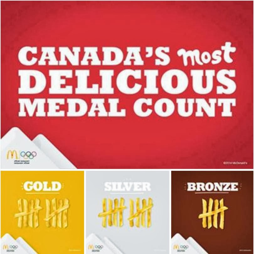 McDonald's Canada - Winter Olympic Medal Count