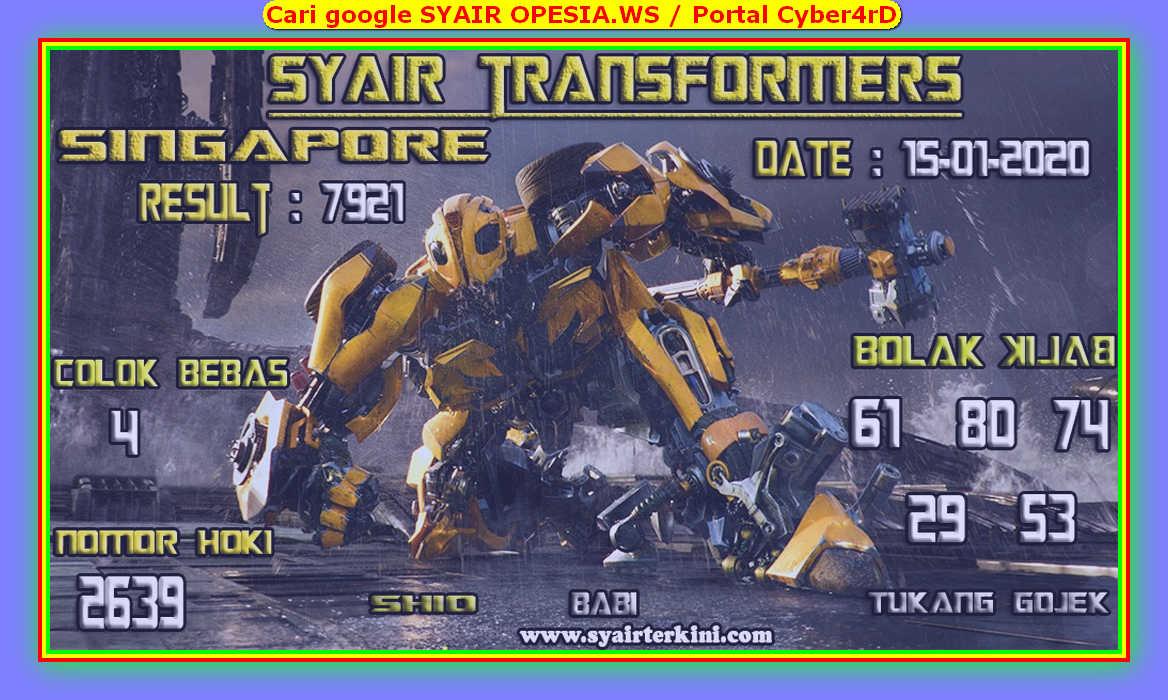 Kode syair Singapore Rabu 15 Januari 2020 72