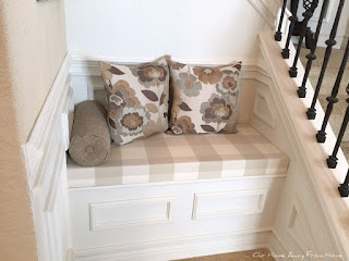 diy bench build to fit perfectly as a seating area