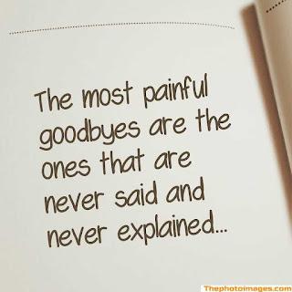 sad goodbye images