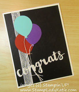 Balloon Card made with Stampinup's Balloon Bouquet Punch by StampLadyKatie