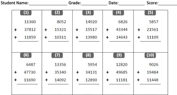 Microstation Classes: Cbse Class 4 Maths Worksheets
