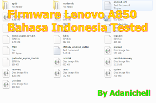 Firmware Lenovo A850 Bahasa Indonesia Tested
