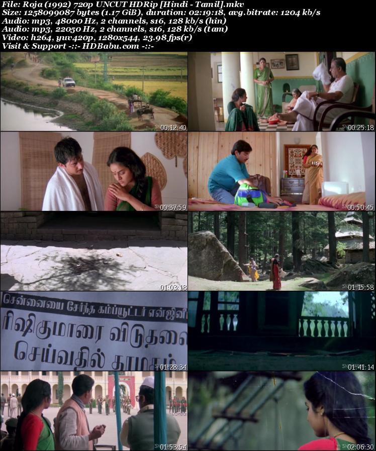 Roja Hindi Dual Audio Full Movie Download, Roja Hindi Dubbed Full Movie Download, Roja Tamil Hindi Dual Audio 720p UnCut HDRip 480p 1GB 350MB