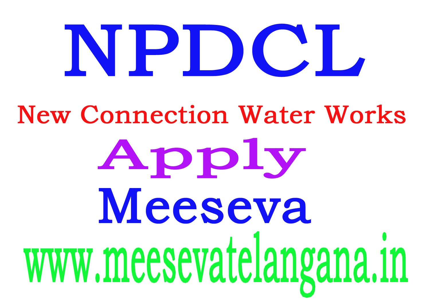 NEW CONNECTION SERVICE-6B-WATER WORKS APPLY MEESEVA All