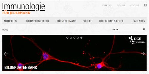 """Die Online-Plattform """"Immunologie für Jedermann""""."""