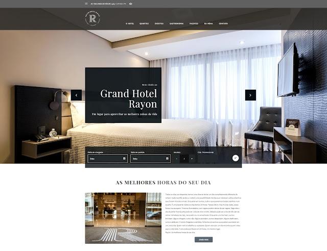 Grand Hotel Rayon apresenta seu novo site