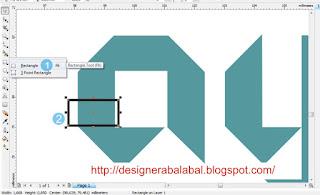 Cara Membuat Objek dengan Rectangle di CorelDRAW