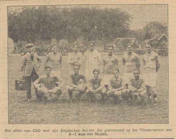 Formación de Chile ante México, Juegos Olímpicos Ámsterdam 1928, 5 de junio