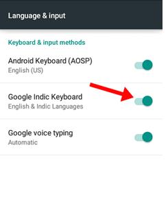 indic keyboard google