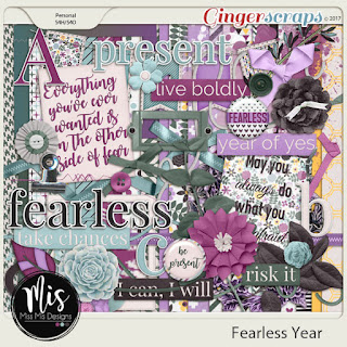 Creative Team, Annemarie, for GingerScraps – Free Daily Download to obtain a Full Sized Kit –Fearless by Miss Miss Designs