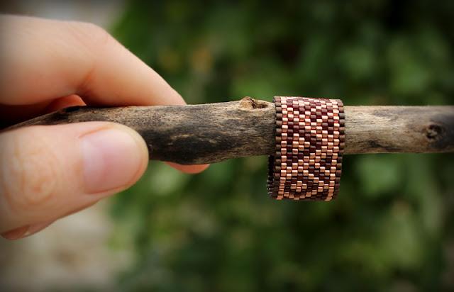 купить бохо кольцо из бисера женское кольцо на палец купить