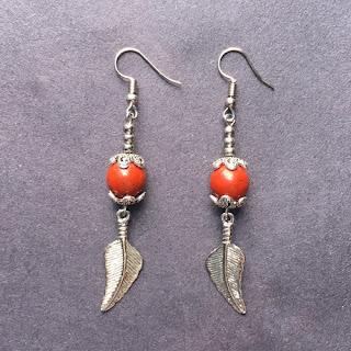 Red Jasper Bead Dangle Earrings