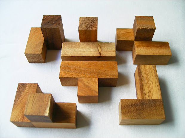 Bamboo 12 Piece Wooden Puzzle Solution - Year of Clean Water
