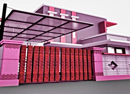 Warna Cat Rumah Pink