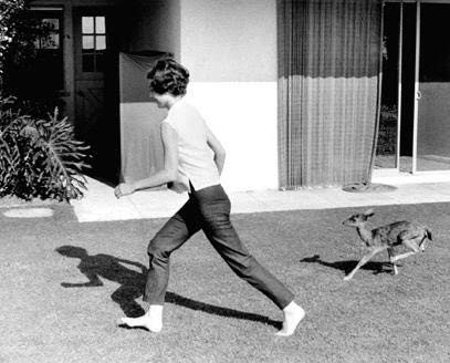 Go Feet: Audrey Hepburn running, cycling and swimming