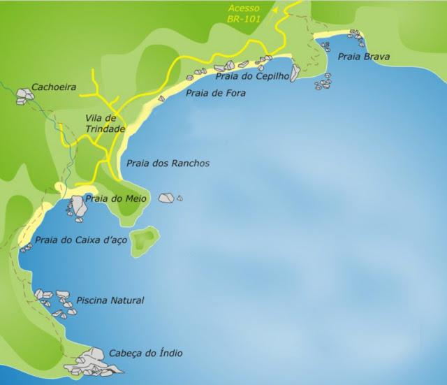 brasil rio de janeiro br 101 trindade viajando sem frescura turismo ferias praia verao sol mapa