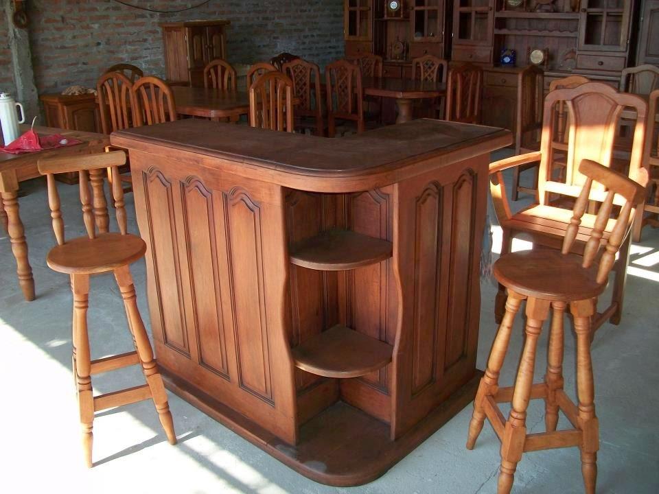 Comprar muebles de algarrobo cosas que deber as saber for Modelos de bar en madera rustica