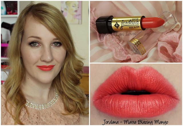 Jordana Matte Blazing Mango lipstick swatch