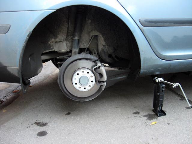 колесо снято