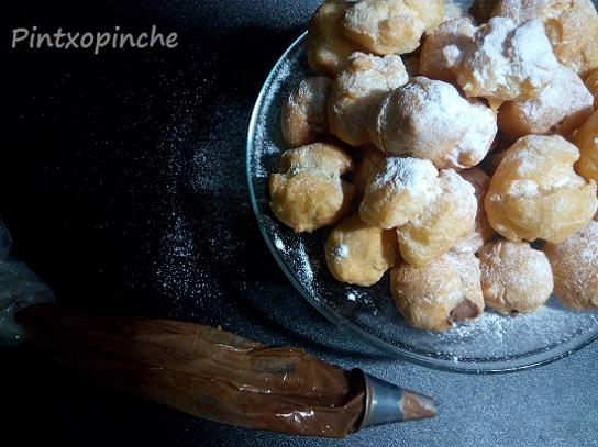 dulces, recetas todos los santos, buñuelos sin gluten, RECETAS SIN GLUTEN, rellenos, trufa, chocolate,