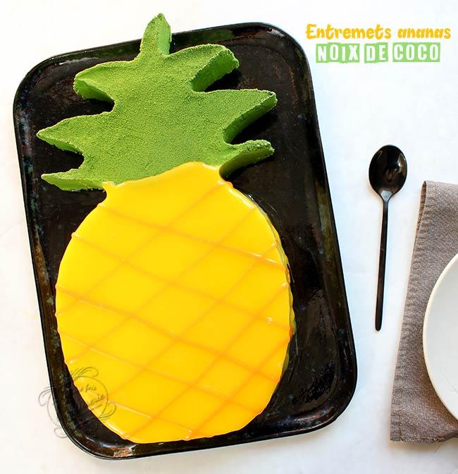 recette gateau ananas noix de coco