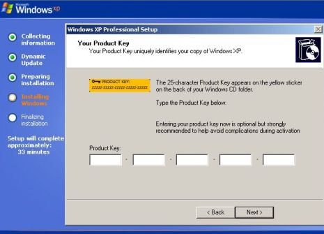 XP Product Key