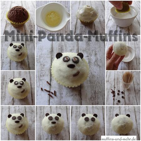 Rezept panda muffins