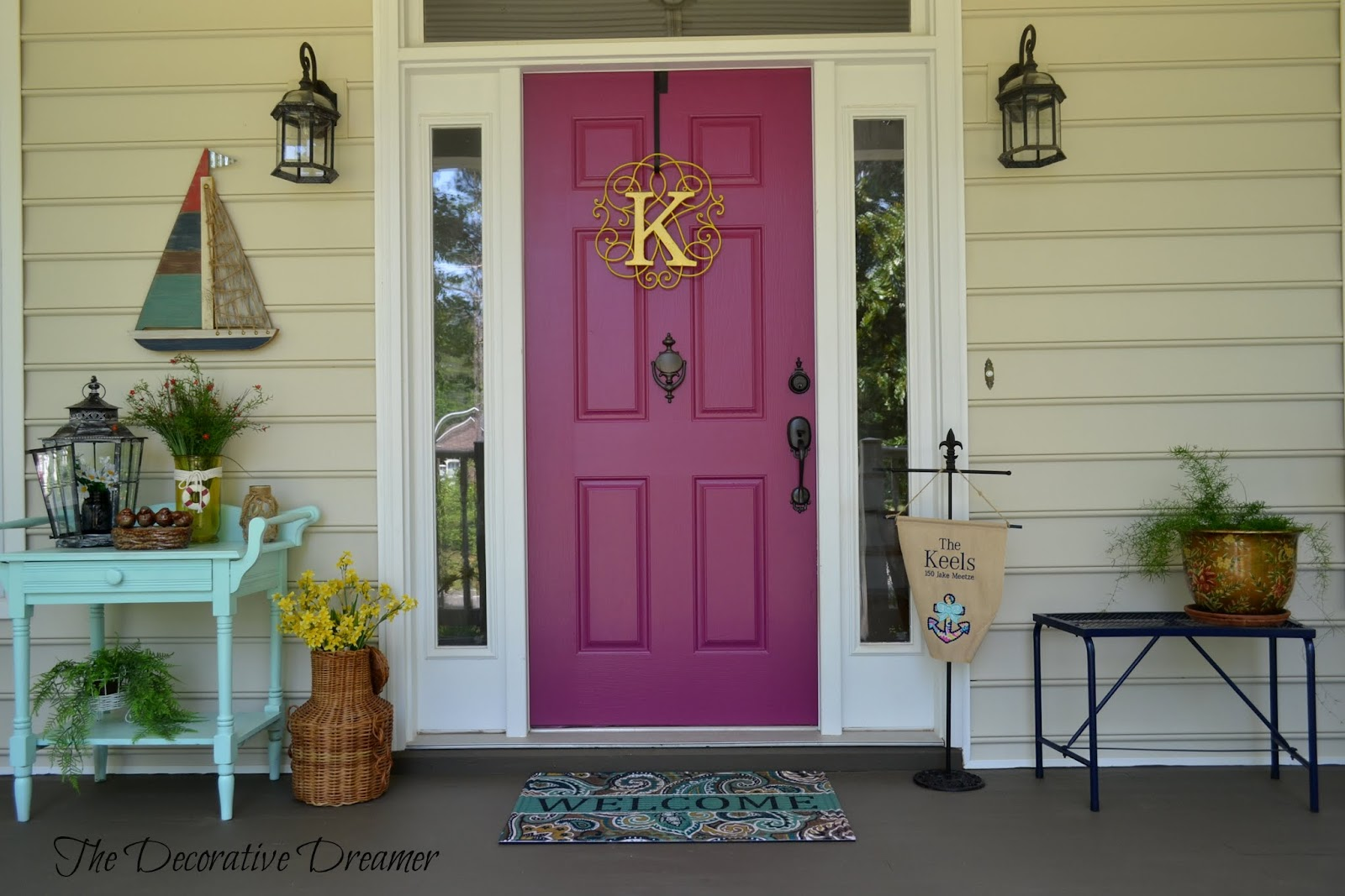 Wonderful Oh Shut The Front Door Part - 10: Ok, Now Since You Have Been So Patient, Letu0027s Talk About My New Front Door.  Talk About A Bold Move Here. After I Repainted The Porch Flooring I  Realized My ...