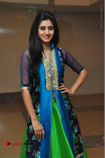 Actress Model Shamili Sounderajan Pos in Desginer Long Dress at Khwaaish Designer Exhibition Curtain Raiser  0024.JPG