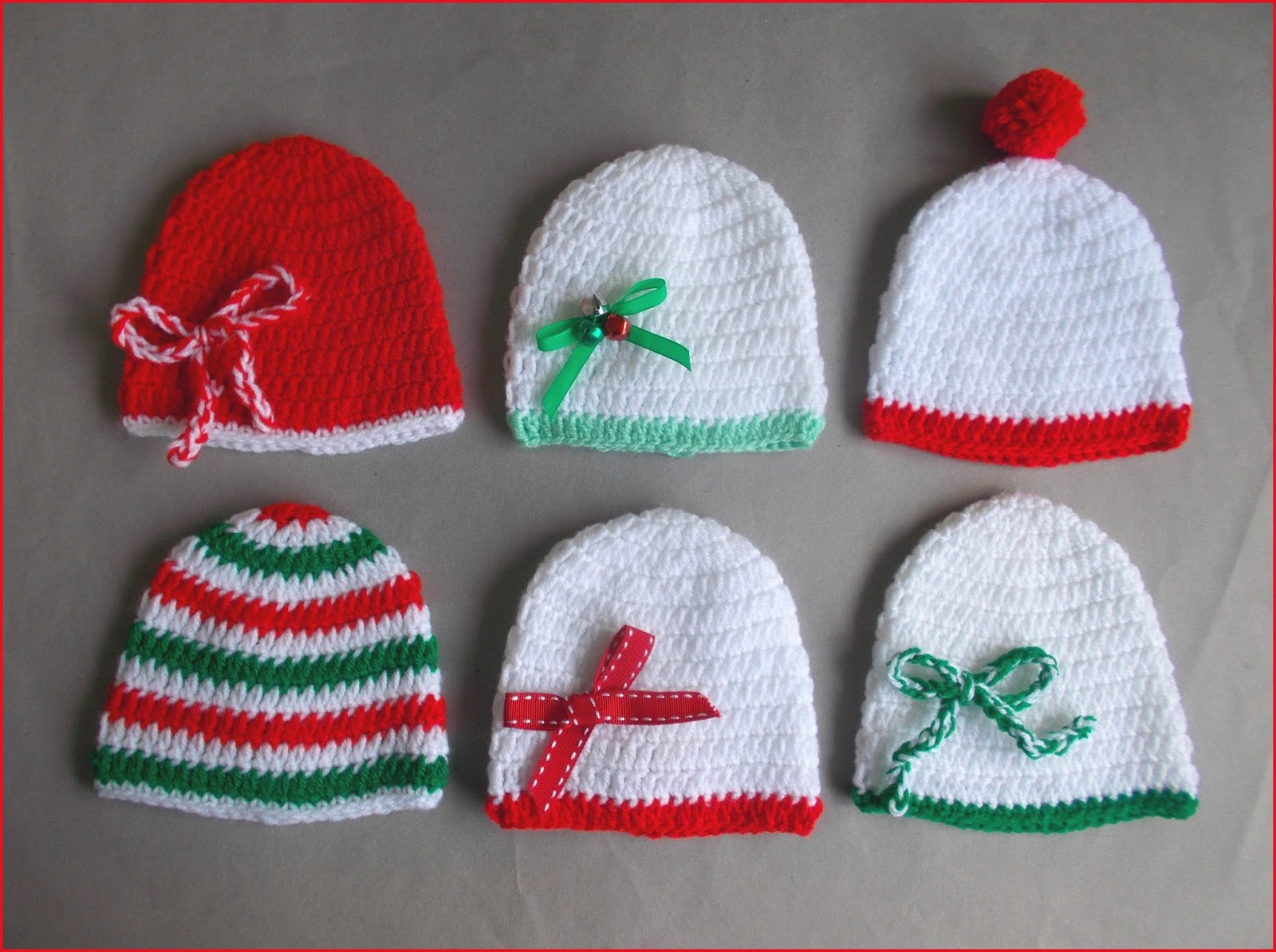 marianna's lazy daisy days: Crochet Christmas Baby Hats