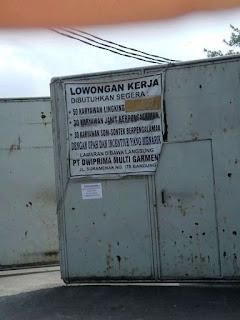 Lowongan Kerja Margahayu Bandung di PT Dwiprima Multi Garment 2019