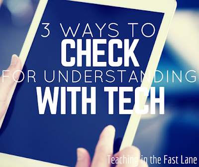 Are you working to include more technology in your classroom? These 3 apps are great for checking for understanding!
