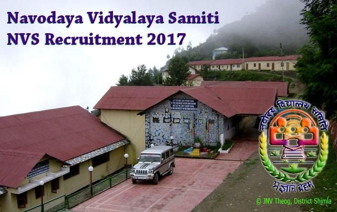 Navodaya Vidyalaya Samiti NVS Recruitment 2017