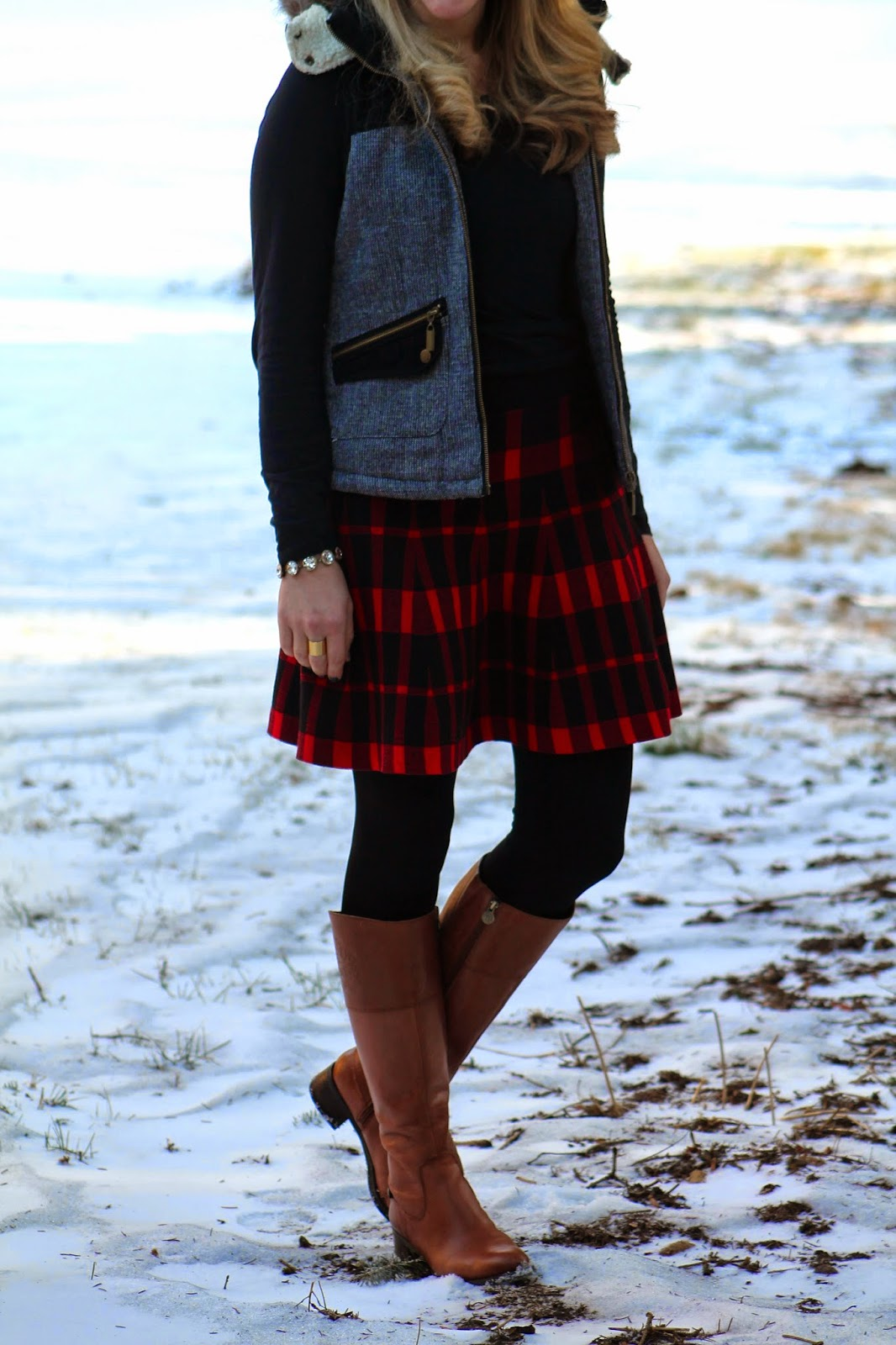 I Do Declaire Plaid Skirt And Vest