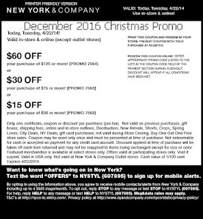 New York And Company coupons december
