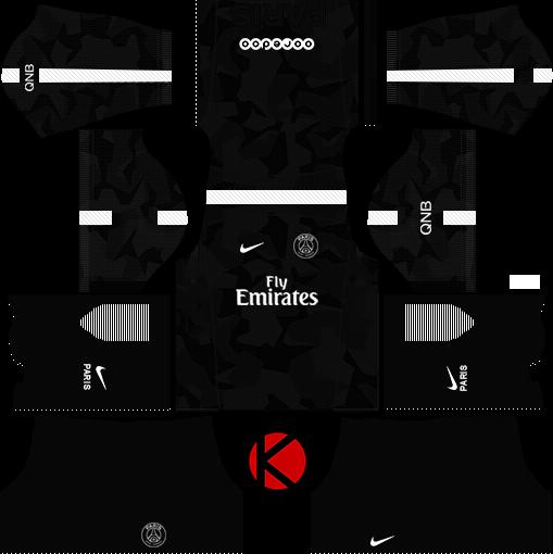 paris saintgermain psg kits 20172018 dream league