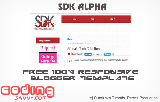 Free 100% Responsive 3 Columns Blogger Template Download: SDK Alpha Blogger Template