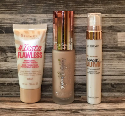 Three Drugstore Glowy Primers (Rimmel, Physicians Formula, L'Oreal)
