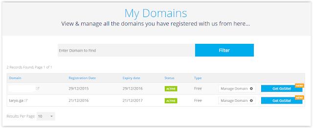 [PROMO GILA!] Gratis 5 Domain .TK .CF .GA .ML .GQ tanpa syarat!