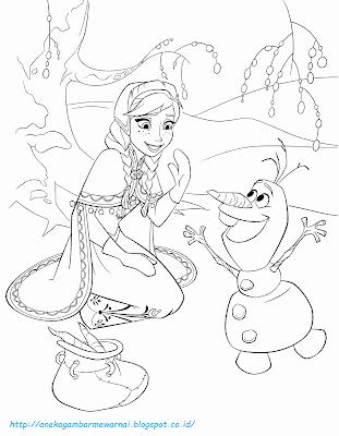 Mewarnai Gambar Frozen - 7