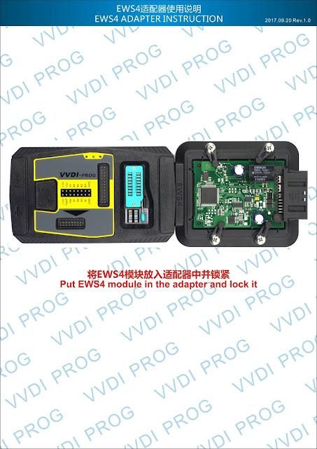 EWS4-ADAPTER-INSTRUCTION How to use VVDI Prog for BMW EWS4 xL86D/0M89C Technology