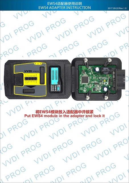 EWS4-ADAPTER-INSTRUCTION How to use VVDI Prog for BMW EWS4 xL86D/0M89C Technology