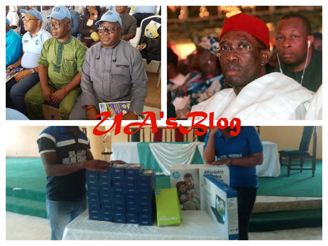 BARBARIC ROGUES: DESOPADEC MD MAKINDE AND ASKIA WASTES COMMISSION'S MILLIONS TO BUY PHONES AND LAPTOPS FOR GOV. OKOWA'S BOYS TO POST LIES AHEAD OF 2019 ELECTION